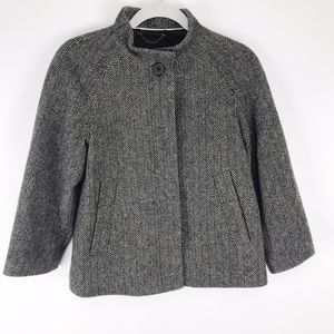 Banana Republic short Wool herringbone jacket